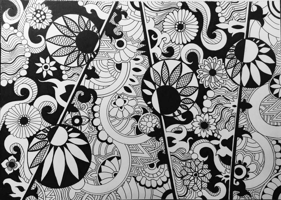 Yin & Yang Zen FlowersPattern