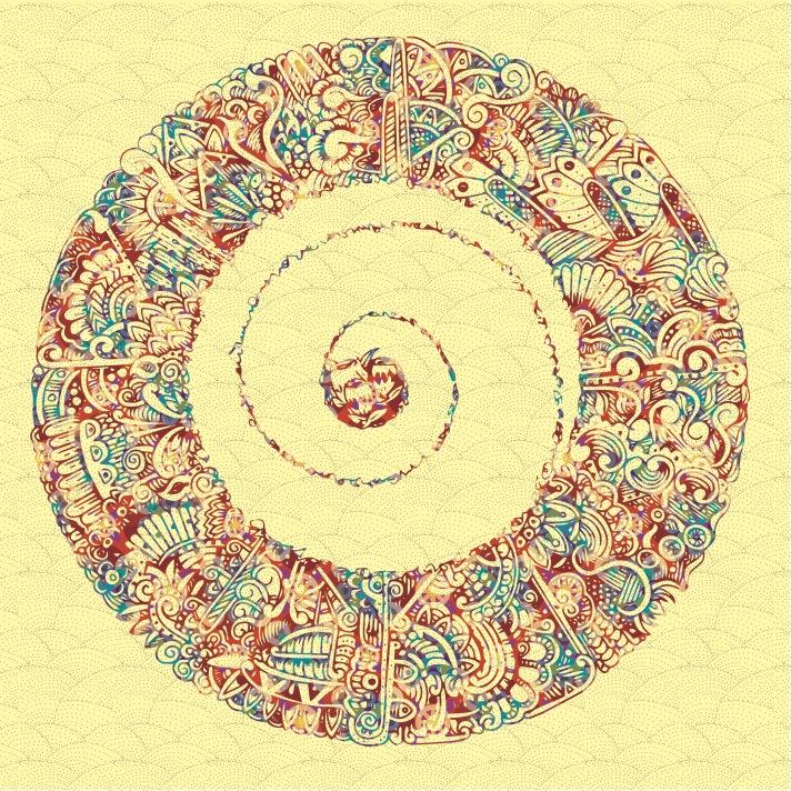 flower circle coloured 1