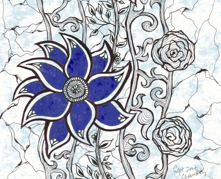 sept 17 flowers pattern 1